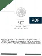 NORMAS ESPECÍFICAS DE CONTROL ESCOLAR SEP MÉXICO, 2018.pdf
