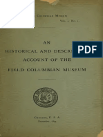 AN HISTORICAL AND DESCRIPTIVE ACCOUNT OF THE FIELD COLUMBIAN MUSEUM