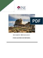 Documento Metodologico de Indicadores Mineria