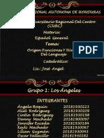 Origen Funciones y Niveles Del Lengua Grupo Angeles. Powerpoint