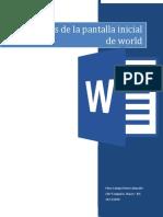 Elementos de la parte inicial de word