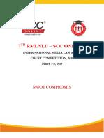 SCC Moot Proposition 7th RMLSCC 1