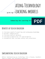 integrating technology into teaching models
