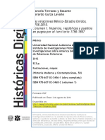 Las Relaciones México-Estados Unidos, 1756-2010. Volumen I. Imperios, Repúblicas y Pueblos en Pugna Por El Territorio 1756-186
