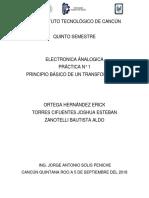 1° Pracitca PRINCIPIO BÁSICO DE UN TRANSFORMADOR