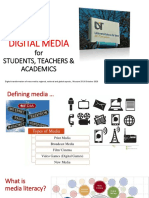 DIGITAL MEDIA for STUDENTS, TEACHERS & ACADEMICS