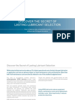 Discover the Secret of Lasting Lubricant Selection
