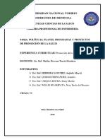 Politicas, Programas y Proyectos de p.s.