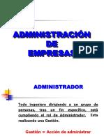 Conceptos de Administracion y Organizacion de Empresas 2018 2