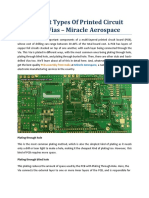 Different Types Of Printed Circuit Board Vias - Miracle Aerospace