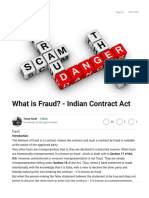 What is Fraud? - Indian Contract Act