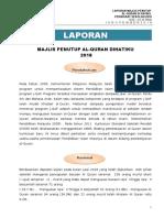 Laporan Majlis Khatam Quran 2018