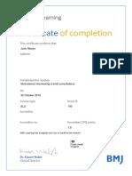 bmj moduale certificate