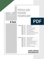 B.tech TFT 1st year syllabus