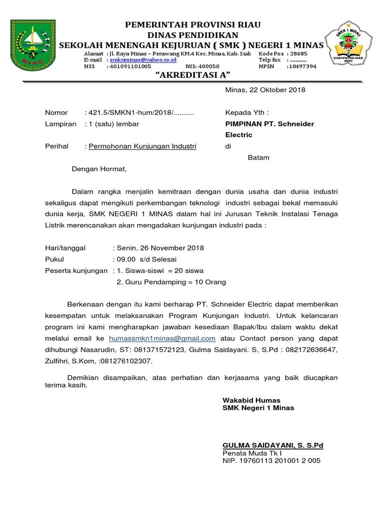 Contoh Surat Mengadakan Kunjungan Hormat Doylc Asia