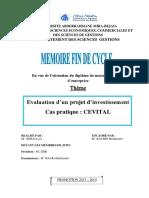 Evaluation d'Un Projet d'Investissement