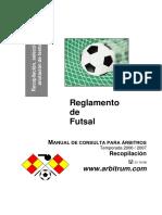 Reglamento Futbol Sala