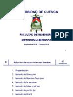 Metodos Numericos Aplicados a La Ingenieria - Nieves
