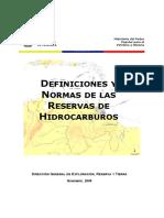 Glosario Reservas de Hidrocarburos