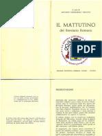 Breviario Romano 1962 MATTUTINO Tutto in ITALIANO@
