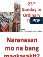 23rd Sunday in Ordinary Time Homily