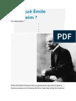Por Qué Émile Durkheim