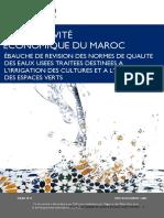 Ébauche de Revision Des Normes de Qualite Des Eaux Usees l'Irrigation