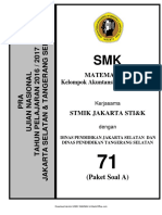 Soal Pra UN Matematika SMK AKP Paket a (71) 2018 - Mahiroffice.com