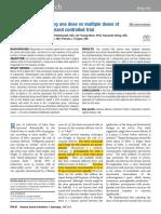 Induction of One Dose vs Multiple Dose Misoprostol