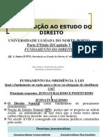 Tema 6-Ied-parte 2ª-Tít II-cap v (Fundamento Do Direito)-Dtavares 2018-19