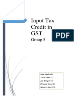 Input Tax Credit in GST Final One
