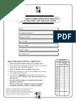Familiarisation CSSE Maths Paper