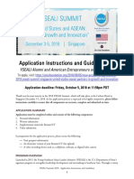 YSEALI Summit 2018 Application Guidelines and Instructions