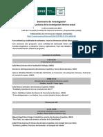 2018-Seminario de Investigación Teoría y práctica de la investigación literaria actual-Departamento de Literatura Española y teoría de la Literatura UNED