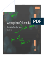 Absorption Column Lab Powerpoint
