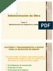 Administración de maquinaria y equipo