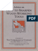 Carborundum Advice on How to Sharpen Wood-Working Tools