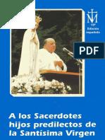 A Los Sacerdotes Hijos Predilectos de La Santisima Virgen Maria Texto