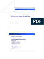 Thermodynamic of Combustion - Course Notes