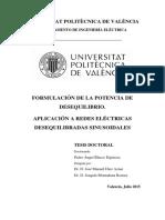 Blasco - FORMULACIÓN DE LA POTENCIA DE DESEQUILIBRIO. APLICACIÓN A REDES ELÉCTRICAS DESEQUILIBRAD....pdf