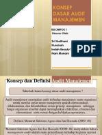Konsep Dasar Audit Manajemen