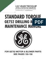 Tractions Motors GE 752 Manual