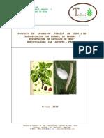 93982389 Proyecto Inversion Publica Perfil Reforestacion Planta Morera y Exportacion Capullos Seda