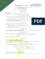 Corrección segundo parcial de Cálculo III, 27 de noviembre de 2018