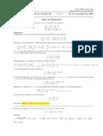Corrección segundo parcial de Cálculo III, 26 de noviembre (tarde) de 2018