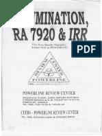 Illumination, RA 7920 and IRR.pdf