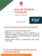 Ordenanza de Conducta Estudiantil - Sugerencias de Modificación