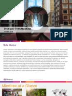 Mindtree Q2FY2019 Investor Presentation