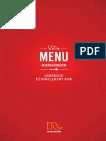 menu normandin