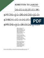 Canzone Popolare - Addio Morettin Ti Lascio
